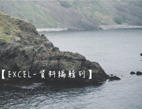 【Excel-資料編輯列】